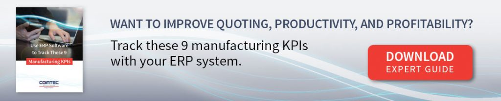 erp system track manufacturing kpis